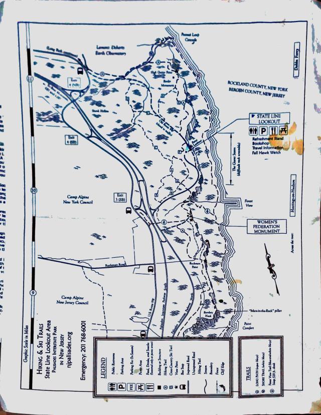 palisades hike map